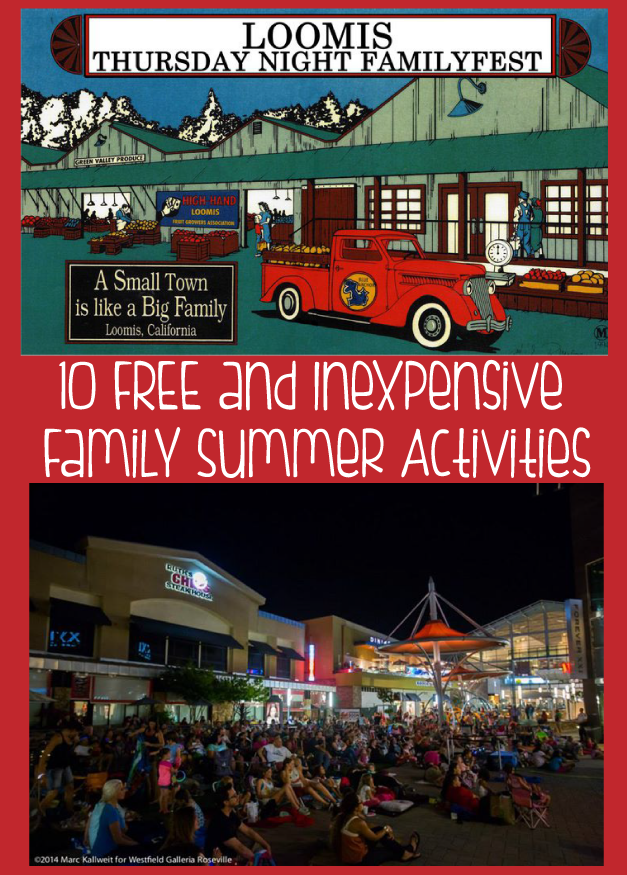 Ten Free or Inexpensive Family Summer Activities