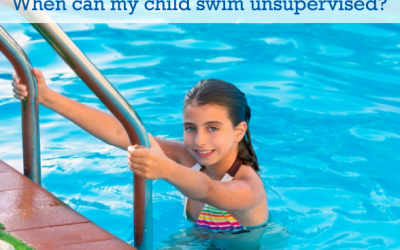 When can my child swim unsupervised?